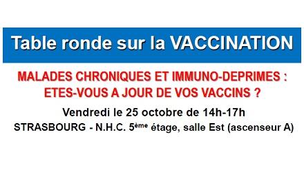 Table ronde sur la vaccination des malades chroniques et immunodéprimés
