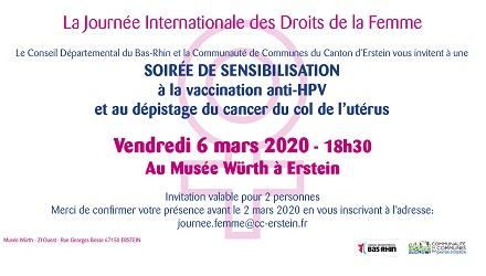 Soirée de sensibilisation à la vaccination anti-HPV et au dépistage du cancer du col de l'utérus